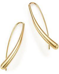 Bloomingdale's - 14k Yellow Gold Long Tear Drop Earrings - Lyst