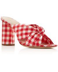 Loeffler Randall - Women's Coco Gingham Print High-heeled Sandals - Lyst