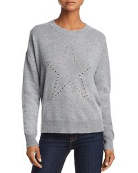 Aqua - Cashmere Grommet Star Cashmere Sweater - Lyst