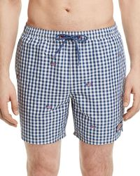 Vineyard Vines - Flag Whale Embroidered Swim Trunks - Lyst