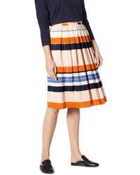 L.K.Bennett - Caitlyn Striped Silk Skirt - Lyst