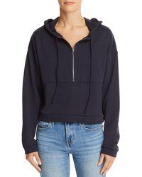 Honey Punch - Half-zip Cropped Hooded Sweatshirt - Lyst