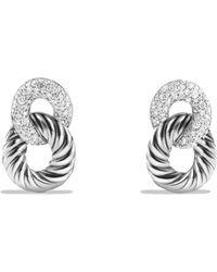 David Yurman - Belmont Drop Earrings With Diamonds - Lyst