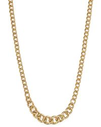 """Bloomingdale's - Graduated Chain Necklace In 14k Yellow Gold, 17.75"""" - Lyst"""