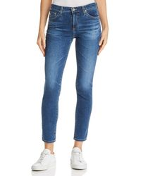 AG Jeans - Prima Ankle Stovepipe Jeans In 8 Year Blue Portrait - Lyst