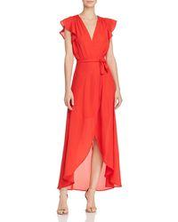 PPLA - Positano High/low Wrap Dress - Lyst