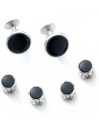 Bloomingdale's - Oval Shirt Stud And Cufflinks Set - Lyst
