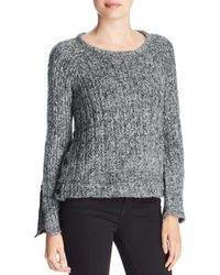 Three Dots - Melange Knit Button Sweater - Lyst
