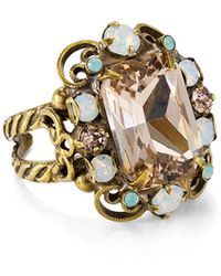 Sorrelli - Faceted Cluster Statement Ring - Lyst