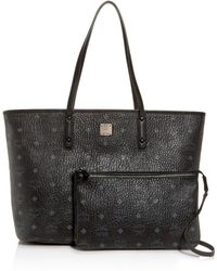 MCM - Anya Logo Print Medium Shopper Tote - Lyst