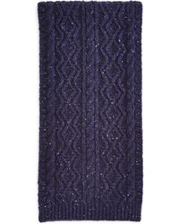 Bloomingdale's - Donegal Cable Knit Scarf - Lyst
