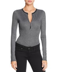 Rag & Bone - Mica Rib-knit Bodysuit - Lyst