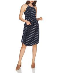 1.STATE - Printed Tie-front Dress - Lyst