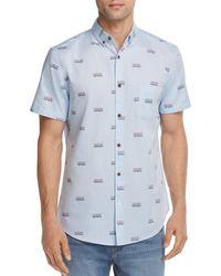 Sovereign Code - La Playa Pattern Regular Fit Button-down Shirt - Lyst