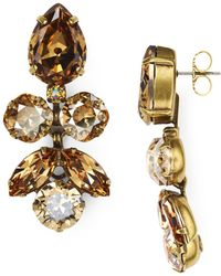 Sorrelli - Lotus Bloom Swarovski Crystal Drop Earrings - Lyst