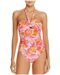 Ralph Lauren - Lauren Lush Cutout One Piece Swimsuit - Lyst