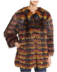 Maximilian - Multicolored Fox Fur Coat - Lyst