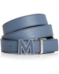 MCM - Enamel Logo Buckle Leather Belt - Lyst