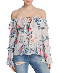 Parker - Erin Off-the-shoulder Floral-print Top - Lyst