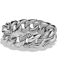 David Yurman - 'belmont' Curb Link Bracelet With Diamonds - Lyst