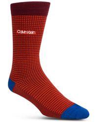 Calvin Klein - Houndstooth-print Socks - Lyst