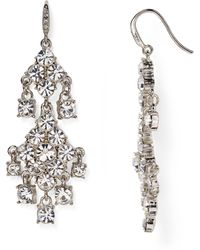 Carolee - Pavé Chandelier Earrings - Lyst
