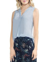 Vince Camuto - V-neck Rumple Top - Lyst