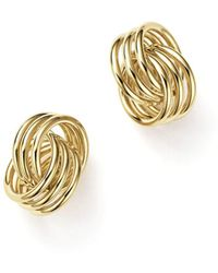 Bloomingdale's - 14k Yellow Gold Coil Knot Earrings - Lyst