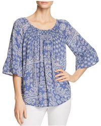 Beach Lunch Lounge - Smocked Bell Sleeve Top - Lyst
