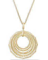David Yurman - Stax Pendant Necklace With Diamonds In 18k Gold - Lyst