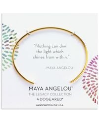 Dogeared - Maya Angelou Nothing Can Dim The Light Cuff Bracelet In 14k Gold-plated Sterling Silver Or Sterling Silver - Lyst