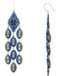 Miguel Ases - Peacock Chandelier Drop Earrings - Lyst