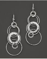 Ippolita Sterling Silver Hammered Jet Set Earrings Lyst