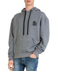 The Kooples - Embroidered Fleece Hoodie - Lyst