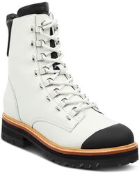 Sigerson Morrison - Women's Irene Round Toe Leather Boots - Lyst
