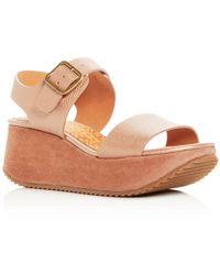 Chie Mihara - Women's Devagar Leather & Suede Wedge Platform Sandals - Lyst