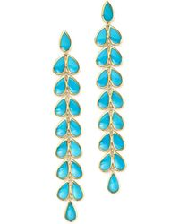 Ippolita | 18k Yellow Gold Rock Candy Cascade Teardrop Earrings With Turquoise | Lyst