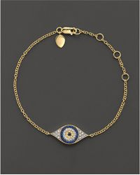 Meira T - Sapphire And 14k Yellow Gold Evil Eye Bracelet - Lyst