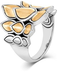 John Hardy - Sterling Silver & 18k Bonded Gold Legends Naga Small Brushed Saddle Ring - Lyst
