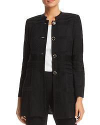 Misook - Mixed-knit Jacket - Lyst