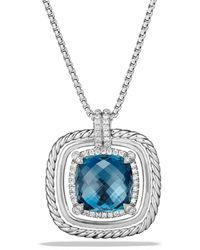 David Yurman - Chatelaine? Pave Bezel Necklace With Gemstone And Diamonds - Lyst