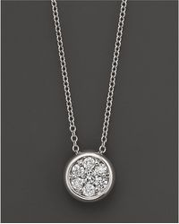 Bloomingdale's - Diamond Cluster Pendant In 14k White Gold, 0.25 Ct. T.w. - Lyst