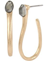 Robert Lee Morris - Sculptural Curved J-hoop Earrings - Lyst