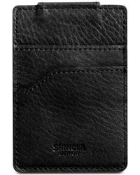 Shinola - Signature Leather Magnetic Money Clip Card Case - Lyst