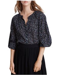 Velvet By Graham & Spencer - Catalina Floral Print Blouse - Lyst