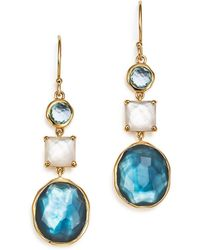 Ippolita - 18k Yellow Gold Rock Candy® 3-stone Drop Earrings In Raindrop - Lyst