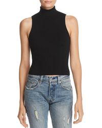 Bardot - Turtleneck Ribbed Top - Lyst