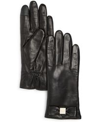 Kate Spade - Bow Tech Gloves - Lyst