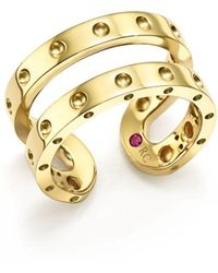 Roberto Coin - 18k Yellow Gold Symphony Double Ring - Lyst