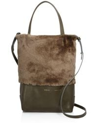 Alice.D - Husky Small Shearling Tote - Lyst